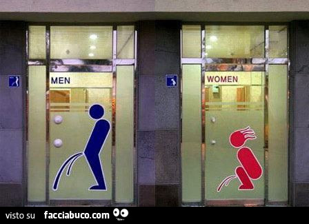 Bagno uomini e bagno donne for Bagno uomini e donne
